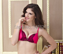 Women  push up bra  pink color  have 32B/34B/36B cup  padded bra for small size women