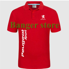 Free Shipping New Brand Summer women and men's Peugeot car logo Polo Shirt