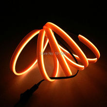Cheap! 10 COLOR Choice 1Meter For Car Styling EL Wire With Skirt Tube Rope LED Neon Strip light Powered by AA battery Car Decor(China)