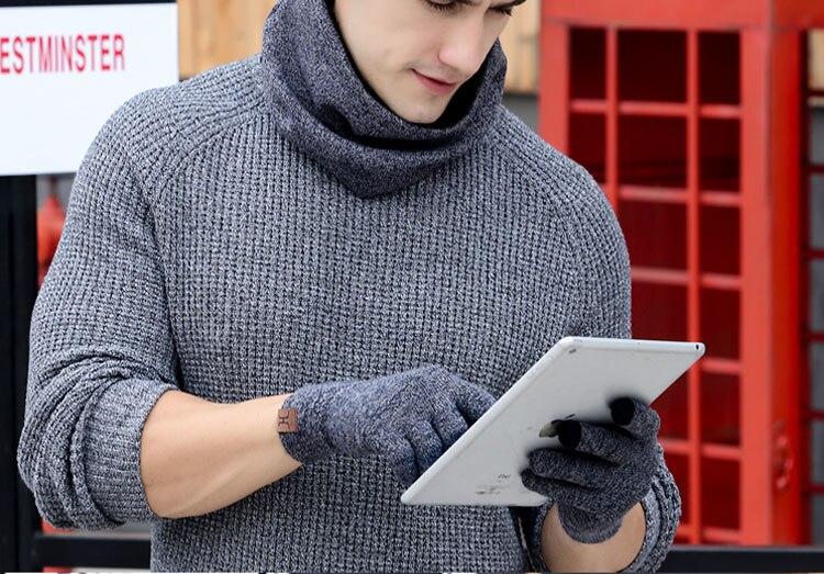 scarf gloves hat set women men winter scarf hat set winter hat scarf and glove set smart touch screen texting gloves set (21)