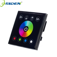 OSIDEN DC12V 24V 4A*4CH Black Panel Digital Touch Screen RGBW Controller Dimmer Home Wall Light Switch For RGBW LED Strip Tape(China)