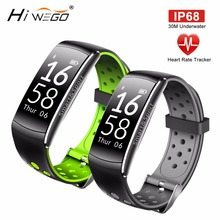 Buy Hiwego Men Smart Watch Heart Rate Monitor IP68 Waterproof Fitness Tracker Blood Pressure Smart Bluetooth Android IOS Women for $27.99 in AliExpress store