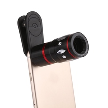 Optical Phone Telescope Portable Mobile Phone Camera Lens External Clip On telescope Lens  for iPhone Samsung HTC Huawei LG Sony