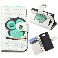 Printing Leather Cover For Motorola RAZR D3 XT919 XT920 Wallet Case With Stand and Card Holder 10 Colors in Stock(China)
