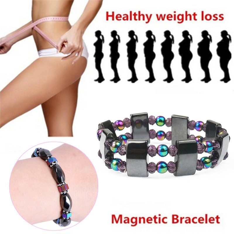 Weight Loss Multicolor Stone Magnetic Therapy Bracelet Health Care Biomagnetism Magnet Reduce Weight Hand Ornament Men Women
