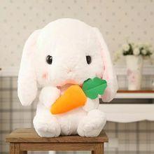 Nooer Cute Soft Lop Rabbit Plush Toy Pink Stuffed Plush Rabbit Doll Graduation Birthday Christmas Girl Kids Children Gift