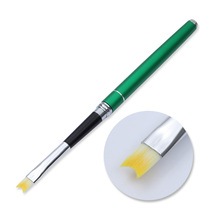 Green Handle French Nail Art Brush Smile Half Moon Shape Acrylic Crystal  UV Gel Liner Painting Drawing Pen Manicure Tools