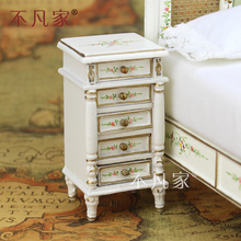 Dollhouses 1/12 scale miniature Retro furniture Hand painted Bedside cupboard