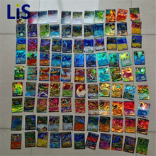 Lis Wholesale lowest price! 60/100 Pcs/Set pichu Cards EX GX Shine English XY No repeat Kids Toys