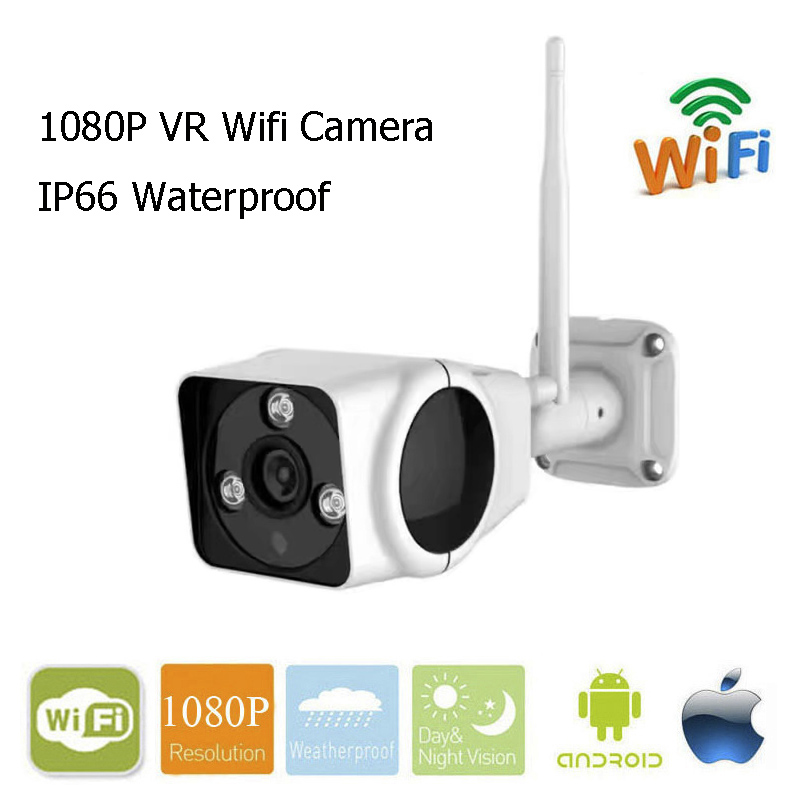 960P 1080P Wifi Camera 2.0mp Outdoor Waterproof IP Camera 360 degree Panorama Camera VR Cam Fisheye Bullet Cam With TF Card Slot<br>