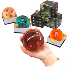 Dragon Ball Crystal Balls 7cm Transparent/Blue/Orange Dragon balls Action Figure Anime 4 7 Stars Dragonball Children Kids Toys