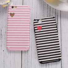 KISSCASE TPU Phone Case for iPhone 6 6S TPU Soft Silicone Cover for iPhone 6 6S Plus Slim Stripe Cat Smile Coque Accessories