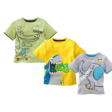 2017 New Boys Clothes Cartoon Printed  Children T-shirts Girls Clothing Kids Clothes Boys T-Shirt YY1303