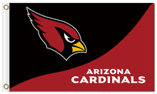 Arizona Cardinals red black flag 100D Polyester 3x5ft Flag with metal Grommets