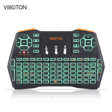 VIBOTON i8 Plus 2.4GHz Wireless Mini Keyboard Mouse Touchpad with USB for PC Xbox 360 PS4 Android TV Box Spainish Russian Hebrew(China)