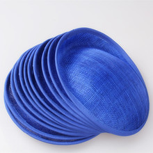 "Free shipping 8""/20cm royal blue sinamay fascinator base/ sinamay hair accessories,DIY hair accessories 15pieces/lot MYQH018RO"
