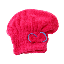 Newly Textile Useful Dry Microfiber Turban Quick Hair Hats Towels Bathing Women towel Shower Cap