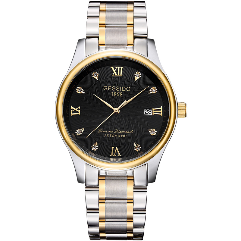 Relogio Masculino GESSIDO Brand Luxury Mechanical Watch Men Automatic Classic Gold Leather Mechanical Wrist Watches Reloj Hombre<br>