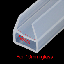 3 meters U shape bath shower screen door window silicone rubber seal strip weatherstrip for 10mm glass