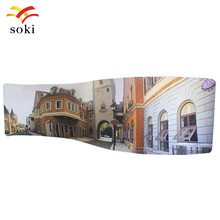 20ft*7.5ft S Shape Exhibition Booth Design System Trade Show Tension Fabric Display BackDrop Wall Pop Up Display For Meeting(China)