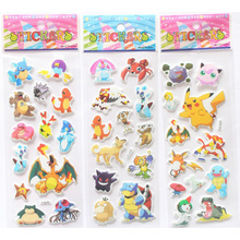 6 Sheets/pack 3D Foam Action Figure Sticker Cartoon Toys  Reward Gift For Children