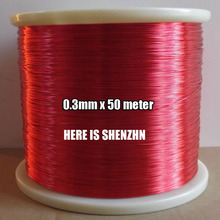 0.3mm Enameled Copper wire Magnetic Coil Winding 50m / pcs QA-1-130 Red Magnet Wire