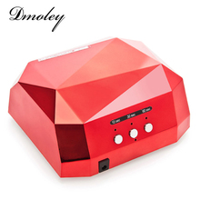 Dmoley 36W UV Led Lamp Nail Dryer 6 Color Diamond Shaped LED UV Lamp Nail Lamp Curing for UV LED Gel Nails Polish Nail Art Tools