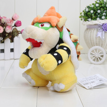 Super Mario plush toys Bowser dragon doll Brothers Bowser retail 7inch