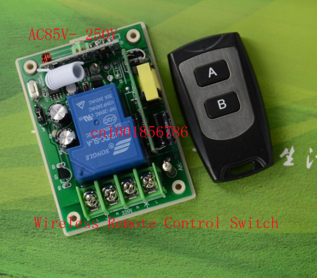 AC85V-280V 220v RF Wireless Remote ControlSwitch Full3000W Receiver Transmitter Big wiring terminal Stable Secure multifunction<br><br>Aliexpress