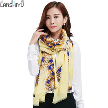 Newest Design Bandana Printing Winter Scarf Women Shawls Thicken Warm Scarves Wool Brand Scarf Woman Wrap(China)