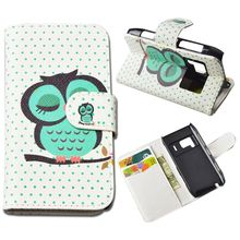 Cute Printing Wallet Case for Nokia N8 Leather Cover with ID Card Holder and Stand 5 Colors Free Shipping