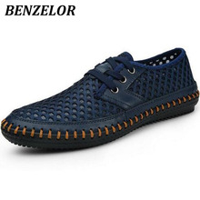 BENZELOR New 2017 Brand Genuine Leather Summer Men's Sandals casual Breathable Handmade men shoes fashion sandales sandalias