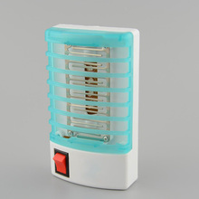 EU Home Practical LED Socket Electric Mosquito Repellent Fly Bug Insect Killer Trap Night Lamp Zapper(China)