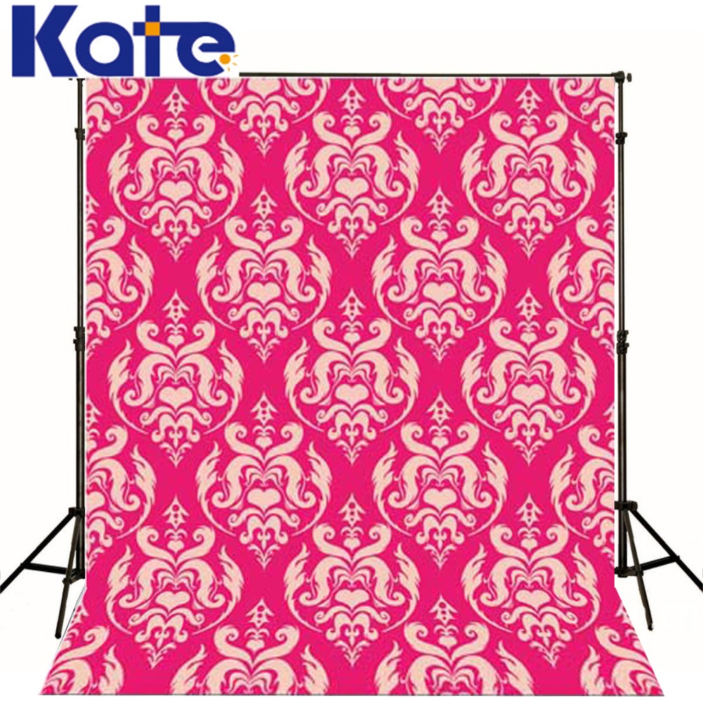 Kate  Digital Printing Photo Studio Backdrop Retro Pink Wallpaper Flowers For Newborn Child Photography Background<br>