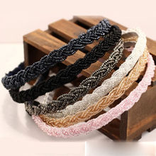 1 pc Head Chain Headband Piece Hair Band Girl Fashion Women Bead Rhinestone Crystal hairband 5 colors(China)