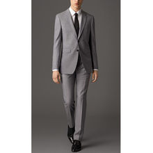 Moda clásico hombres traje de solapa gris de los hombres de un solo pecho  vestido de fiesta y vestido de los padrinos de Boda (c. 6db7ea0fbd1c
