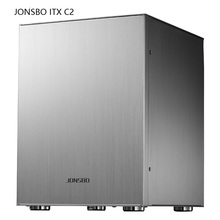 Computer case Jonsbo C2 Silver red black Aluminum ITX stand by big power supply Support MATX motherboard(China)