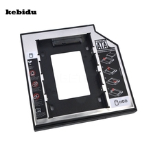 kebidu External 2nd SATA 3.0 SSD HDD HD Hard Disk Driver Caddy Plastic Shell Enclosure Case for 12.7mm Thick CD DVD ROM(China)
