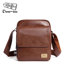 New Fashion Casual Men's Bag Quality PU Leather Male Messenger Bag Tide Card Ipad Mobile Phone Travel Shoulder Bag Bolsas Packet()