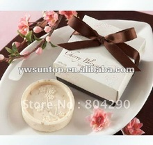 50 PCS Wedding Party Supplies Cherry Blossom Scented Soap Favors with Gift Box Free Shipping