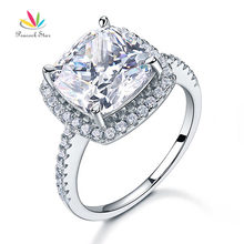Peacock Star 5 Ct Cushion Cut Wedding Anniversary Engagement Ring 925 Sterling Silver Wedding Jewelry CFR8204