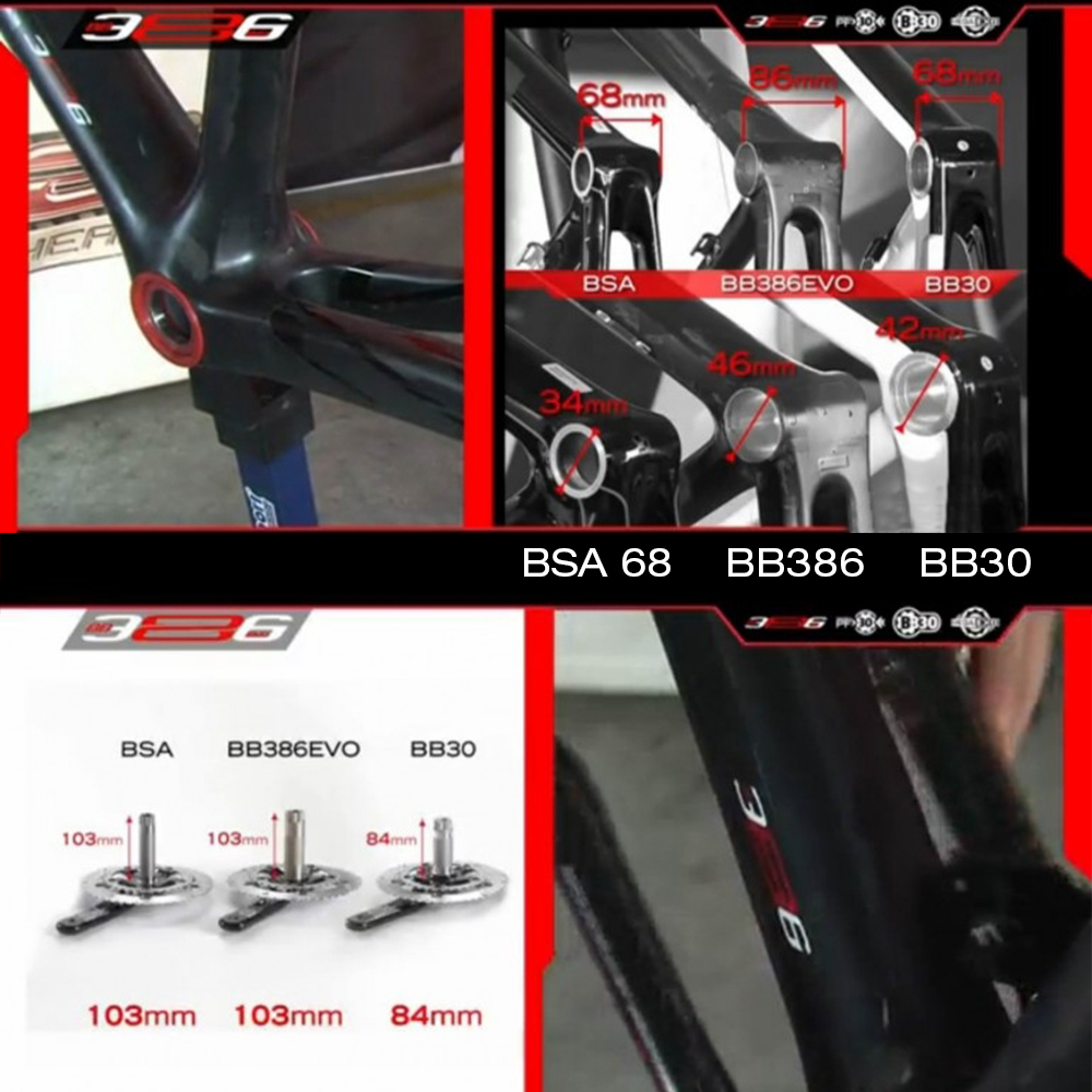 ZTTO BB386 EVO PF30 30 Bicycles Press Fit Bottom Brackets Axle for MTB Road Bike