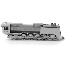 Steam Locomotive Car Styling Fun 3d Metal Diy Miniature Model Kits Puzzle Toys Children Educational Boy Splicing Science Hobby