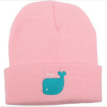 New Style Knit Dolphin Pattern Cute Warm Winter Hats for Women Cheap Female Beanie Hats Head Cap Toque Gray Black White Blue(China)