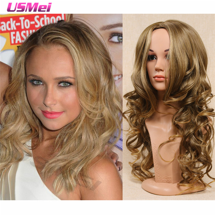 long blonde wig middle part body weave hair wigs blonde wigs for women synthetic wigs high quality perruque cosplay peruca loira<br><br>Aliexpress