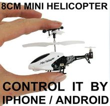 Newest Funny mini drone The Smallest Remote Control RC Helicopter Iphone Control RC i-helicopter 4CH rc Toys Best Gifts(China)