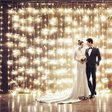 1Set 4.5*3m 300 Led US 110v EU 220V net string light Christmas lights New year light wedding ceremony free shipping(China)