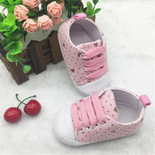 2015 Fashion Lovely Heart Baby Shoes First Walkers Soft Sole Newborn Infants Shoes