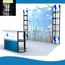 10ft Portable Twister Tower Lighting Inside Trade Show Display Booth Exhibition System With Counter Cutsom Graphic Print(China)