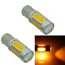 CQD-Light 2pcs 1156 BA15S 7.5W COB LED Car Auto Turn Signal Lights Backup Reverse Bulb Replacement Lamp Red/Yellow/White 12v